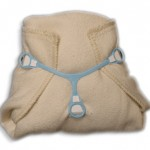 Prefold Cloth Diaper with a Snappi